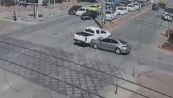 Gaziantepteki trafik kazaları kameralarda