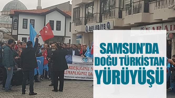 Samsun'da Doğu Türkistan Yürüyüşü!