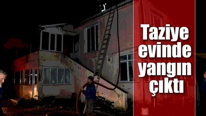 Taziye Evinde Çıkan Yangın Korkuttu
