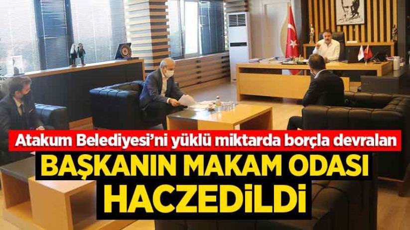 Atakum Belediyesi'nde Başkan Deveci'nin makam odası haczedildi
