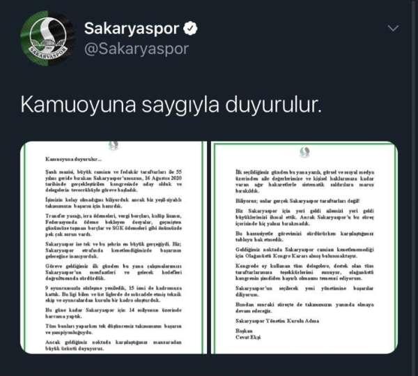 Sakaryaspor'da kongre kararı alındı