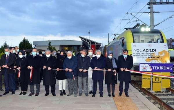Tekirdağ'dan Avrupa'ya ilk ihracat yükü trenle Avrupa'ya gönderildi
