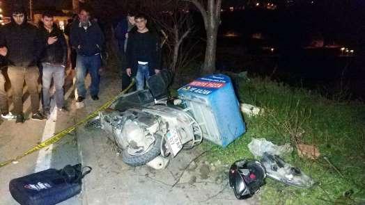 Motosikletli kurye son siparişinden dönerken kazada öldü
