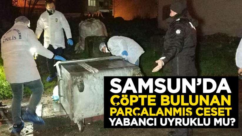 Samsun'da çöpte bulunan parçalanmış ceset yabancı uyruklu mu?