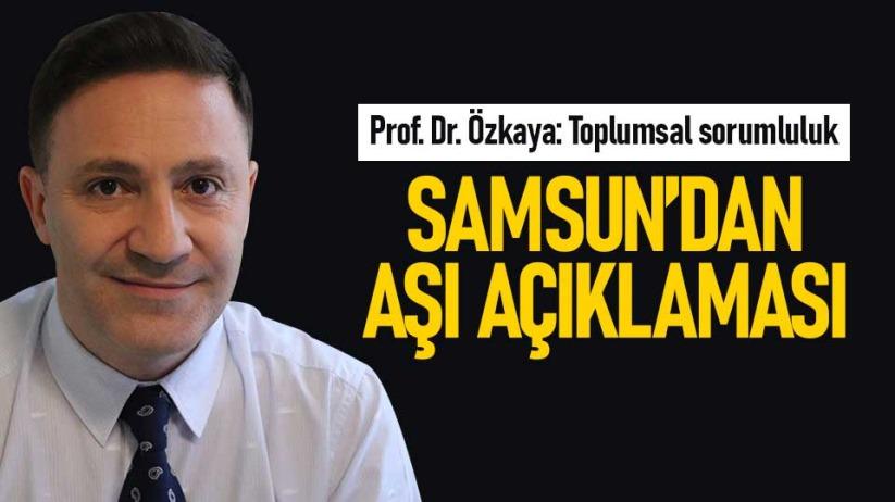 Prof. Dr. Özkaya'dan aşı açıklaması