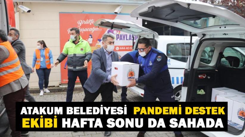 Atakum Belediyesi Pandemi Destek Ekibi hafta sonu da sahada