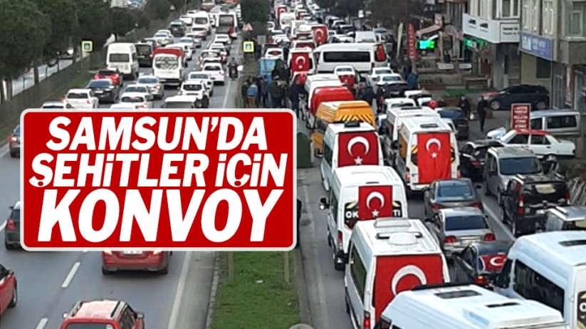 Samsun'da şehitler için konvoy!