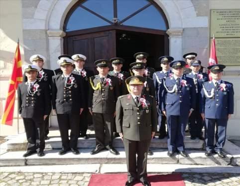 Harbiyeliler Kuzey Makedonya'da Atatürk'ü andı