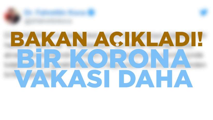 Türkiye'de korona virüs bir kişide daha tesbit edildi.