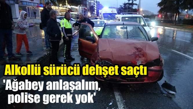 Samsun'da bir garip trafik kazası