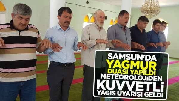 Samsun'da yağmur duası tuttu