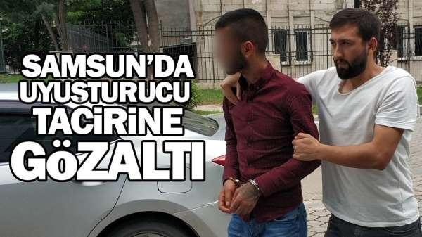 Samsun'da uyuşturucu tacirine gözaltı