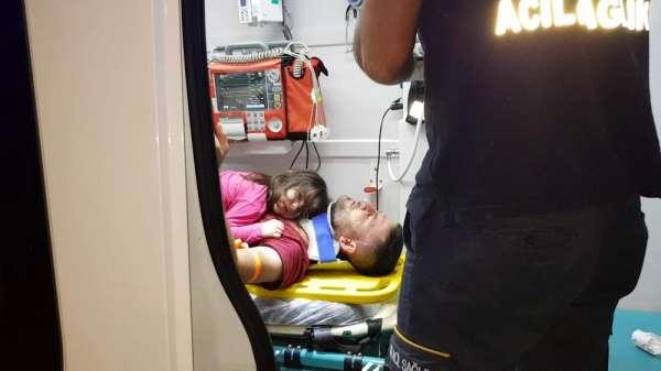 Kazada küçük kızın feryadı yürek dağladı