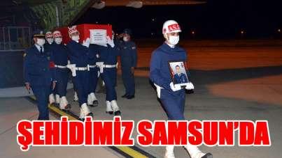 Şehit Astsubay Ethem Demirci'nin cenazesi Samsun'a getirildi