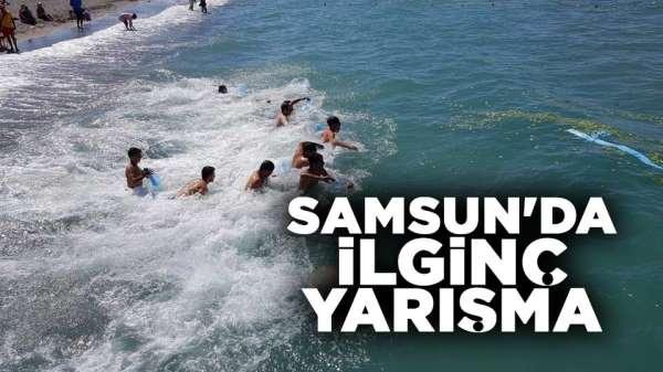 Samsun'da ilginç yarışma