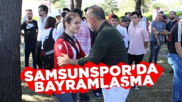 Samsunspor'da Başkan nezdinde Bayramlaşma