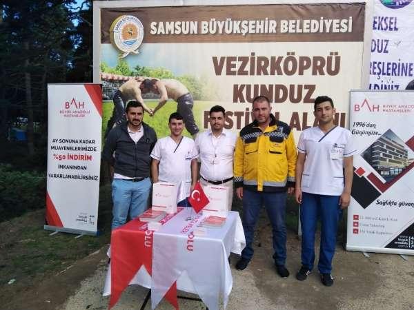 Kunduz Festivali'nde sağlık hizmeti
