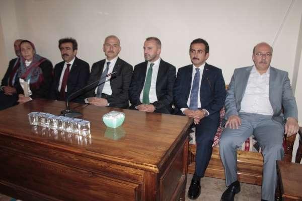 Bakan Soylu, Diyarbakır şehitlerinin taziyesine katıldı