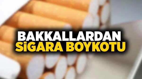 Bakkallardan Sigara boykotu