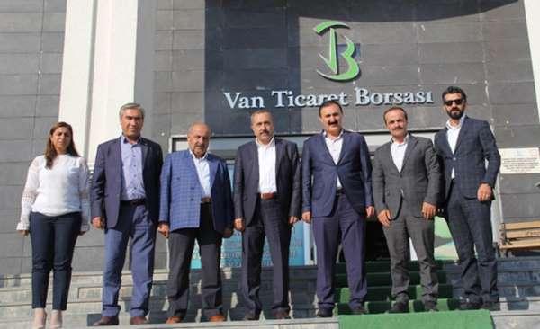 Van Milletvekili Arvas'tan VANTB'ye ziyaret