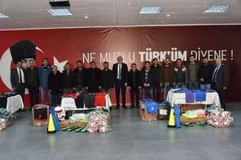 Başkan Bakkalcıoğlu'ndan amatör spor kulüplerine malzeme yardımı