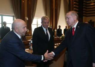 Cumhurbaşkanı Recep Tayyip Erdoğan, TFF ve Kulüpler Birliği'ni kabul etti.