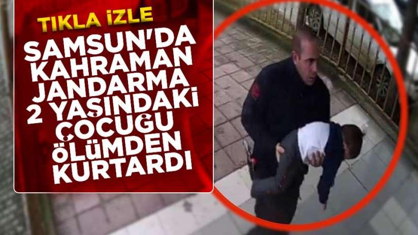 Samsun'da jandarma hayat kurtardı