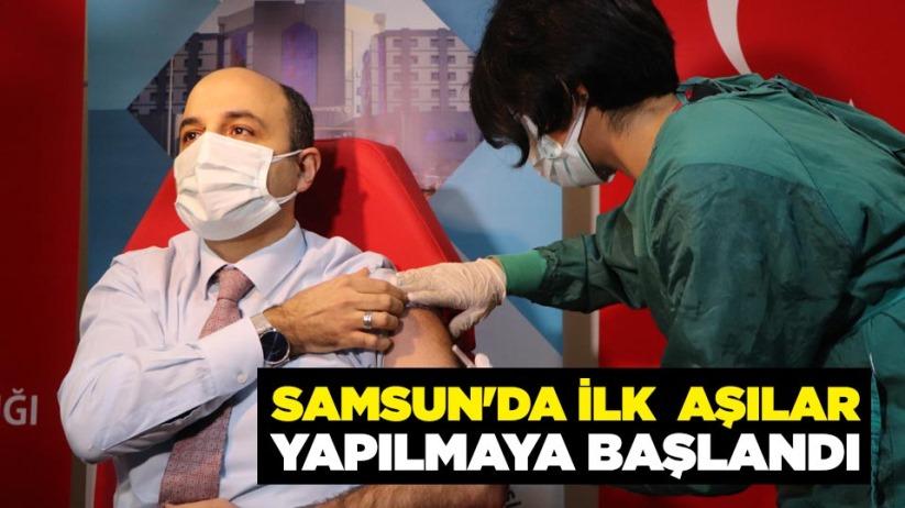 Samsun'da ilk aşılar yapılmaya başlandı