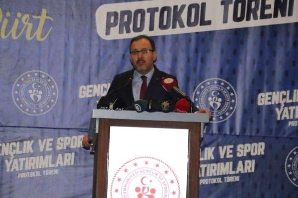 Bakan Kasapoğlu'ndan Siirt'e stat müjdesi