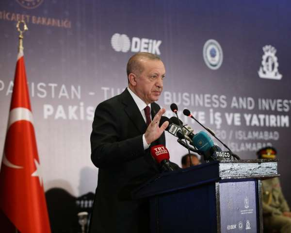 Cumhurbaşkanı Erdoğan: 'Pakistan'la ticari ve ekonomik bağlarımızı siyasi münase