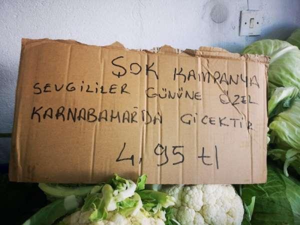 Halk arasında 'çiçek' olarak bilinen karnabaharda 14 Şubat kampanyası
