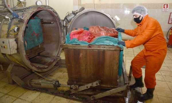 150 ton tıbbi atık bertaraf edildi