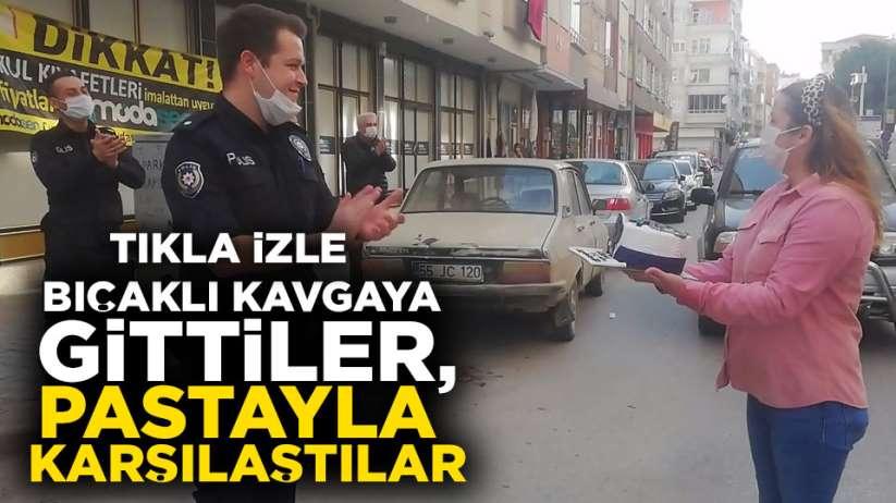 Polisler bıçaklı kavgaya gittiler, sürprizle karşılandılar