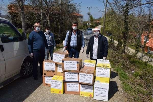 Sinop'ta karantinaya alınan köylere gıda yardımı