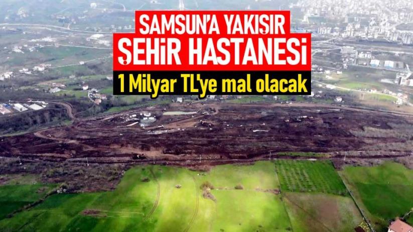 Samsun Şehir Hastanesi inşaatında yoğun çalışma