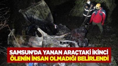 Samsun'da yanan araçtaki ikinci ölenin insan olmadığı belirlendi