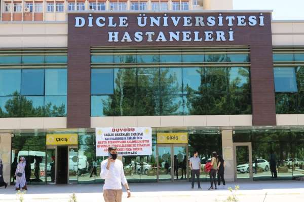Dicle Üniversitesinde Covid-19 hasta sayısında düşüş
