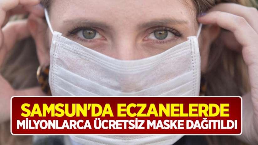 Samsun'da eczanelerde milyonlarca ücretsiz maske dağıtıldı