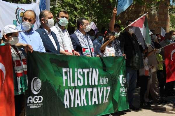 Başkentte Filistin şehitleri için gıyabi cenaze namazı kılındı