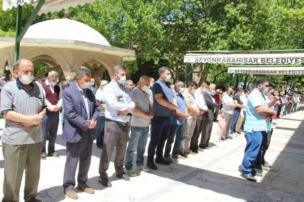 Filistinde şehit olan vatandaşlar için Afyonkarahisarda gıyabi cenaze namazı kılındı