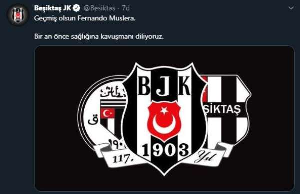 Beşiktaş ve Fenerbahçe'den Muslera'ya geçmiş olsun mesajı