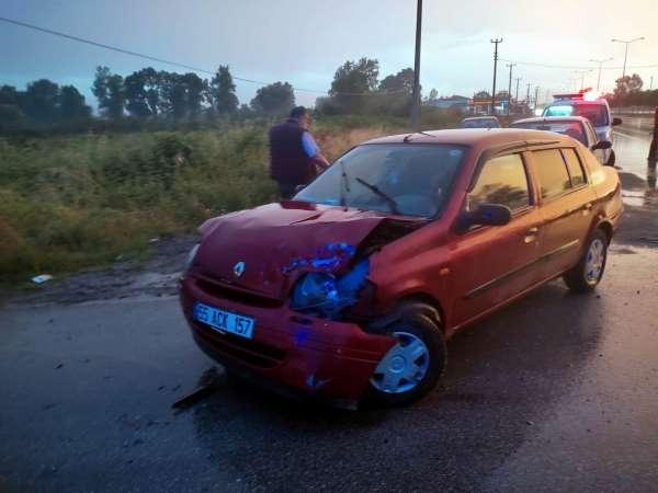 Samsunda otomobil tır ile çarpıştı: 1 yaralı