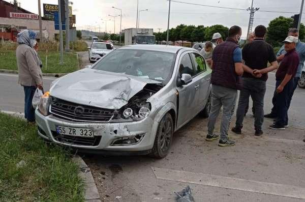 Samsunda trafik kazası: 2 yaralı