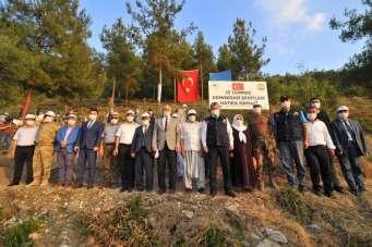 15 Temmuz Demokrasi Şehitleri Hatıra Ormanı'na 200 fidan dikildi