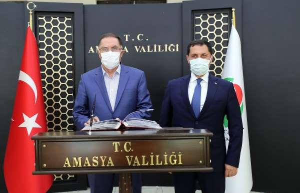 Kamu Başdenetçisi Şeref Malkoçtan Vali Masatlıya ziyaret