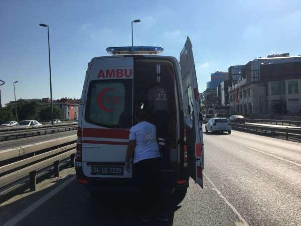 Belçikadan İstanbula bir günlüğüne geldi, kiraladığı araçla kaza yaptı