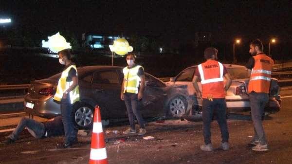 TEM'de zincirleme trafik kazası:2 yaralı