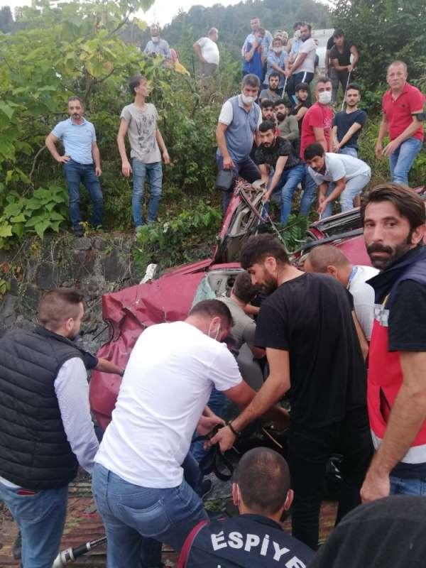 Espiye'de feci kaza: 1 ölü, 3 yaralı