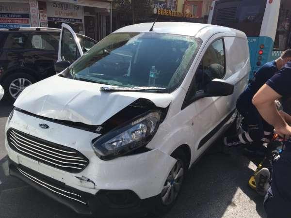 Pendik'te trafik kazası: 1 yaralı