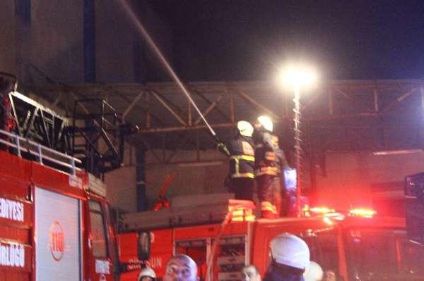 Giresun'da fındık fabrikasında yangın çıktı